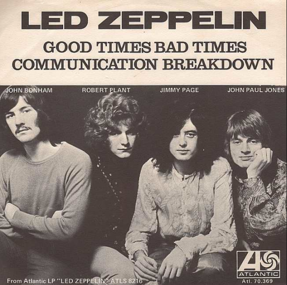 Image result for communication breakdown led zeppelin album art
